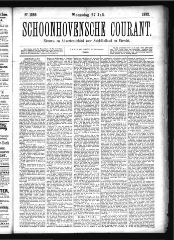 Schoonhovensche Courant 1892-07-27