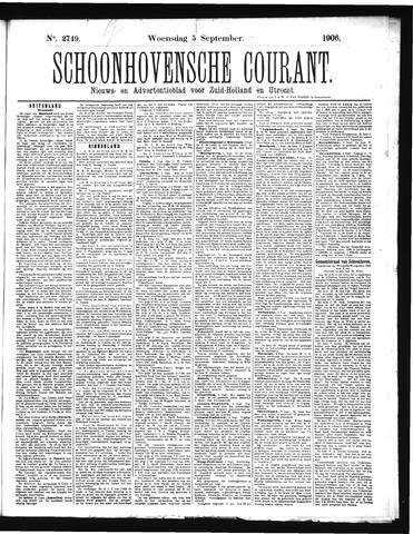 Schoonhovensche Courant 1906-09-05