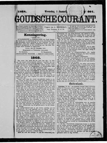 Goudsche Courant 1868-01-01
