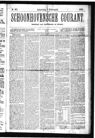 Schoonhovensche Courant 1885-02-07