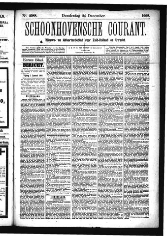Schoonhovensche Courant 1908-12-24