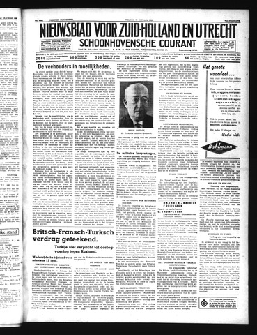 Schoonhovensche Courant 1939-10-20