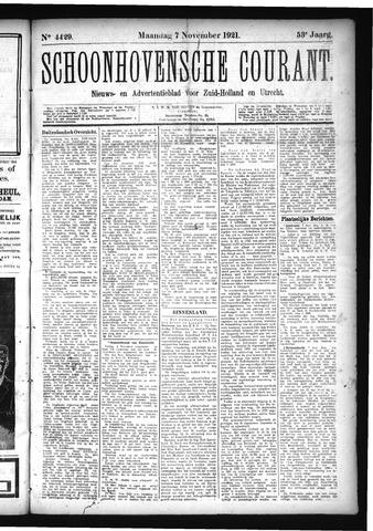 Schoonhovensche Courant 1921-11-07