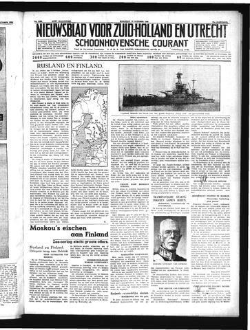 Schoonhovensche Courant 1939-10-16