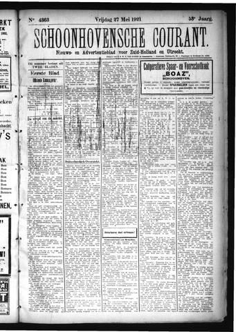 Schoonhovensche Courant 1921-05-27