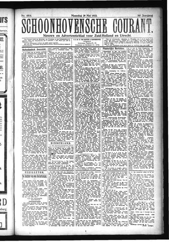 Schoonhovensche Courant 1922-05-29