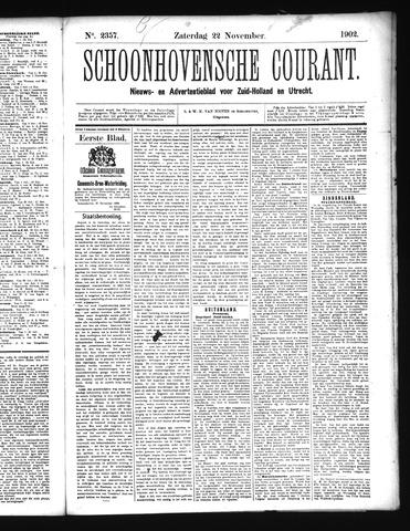 Schoonhovensche Courant 1902-11-22