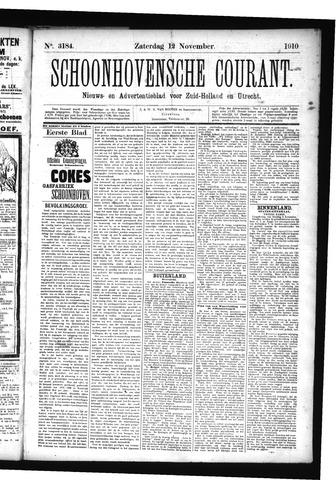 Schoonhovensche Courant 1910-11-12