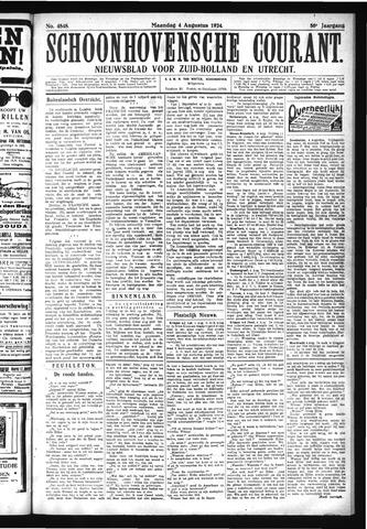 Schoonhovensche Courant 1924-08-04
