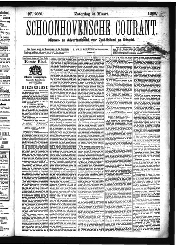 Schoonhovensche Courant 1900-03-24
