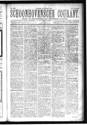 Schoonhovensche Courant 1922-02-13