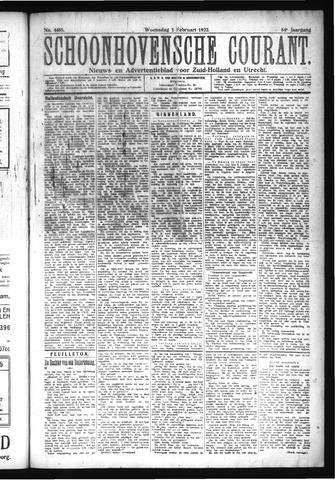 Schoonhovensche Courant 1922-02-01