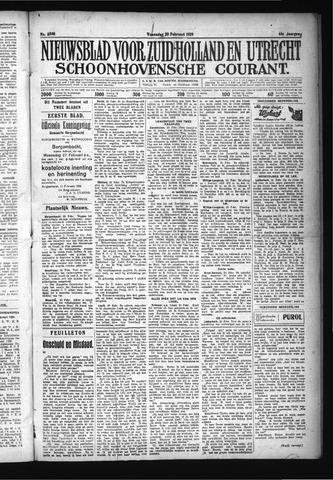 Schoonhovensche Courant 1929-02-20