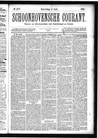 Schoonhovensche Courant 1891-07-04