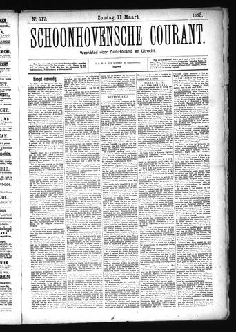 Schoonhovensche Courant 1883-03-11