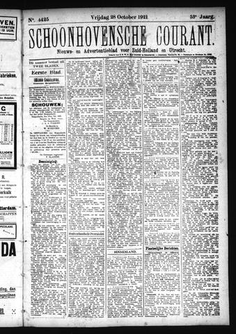 Schoonhovensche Courant 1921-10-28