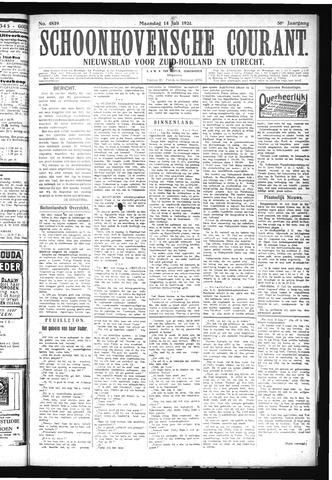 Schoonhovensche Courant 1924-07-14