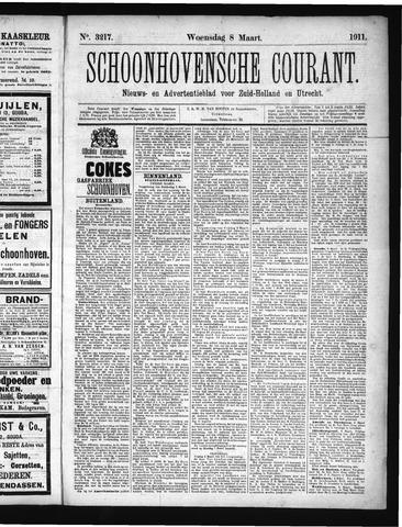 Schoonhovensche Courant 1911-03-08