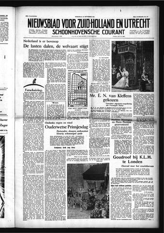 Schoonhovensche Courant 1954-09-22