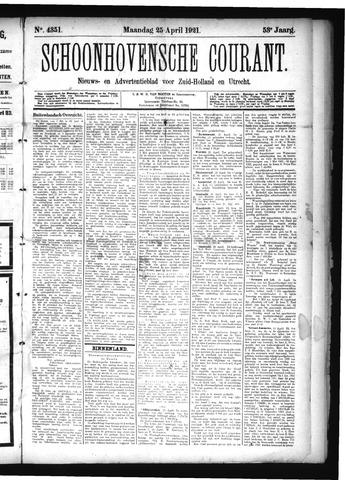 Schoonhovensche Courant 1921-04-25