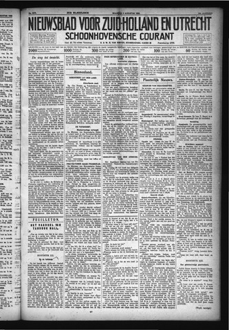 Schoonhovensche Courant 1932-08-08