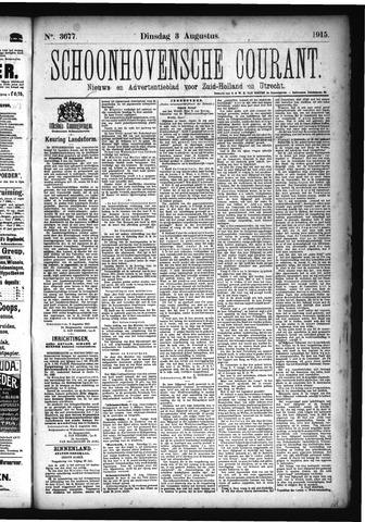 Schoonhovensche Courant 1915-08-03