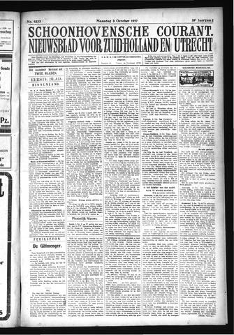 Schoonhovensche Courant 1927-10-03