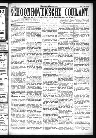 Schoonhovensche Courant 1924-01-14