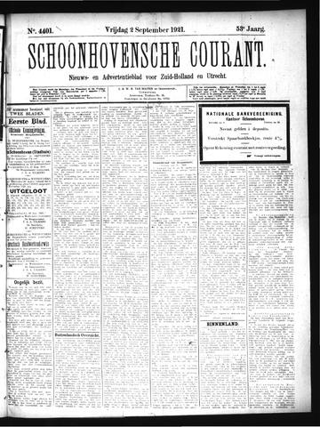 Schoonhovensche Courant 1921-09-02