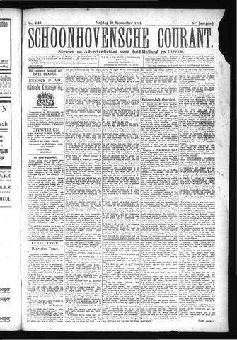Schoonhovensche Courant 1922-09-29