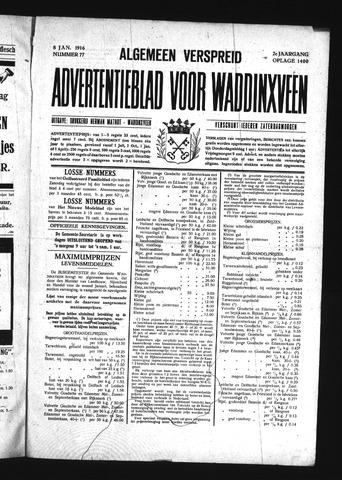 Advertentieblad Waddinxveen 1916-01-08