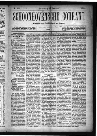 Schoonhovensche Courant 1889-01-12