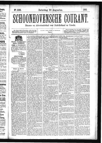Schoonhovensche Courant 1891-08-29