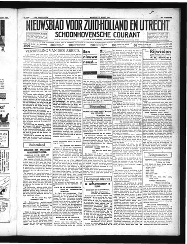 Schoonhovensche Courant 1937-03-22