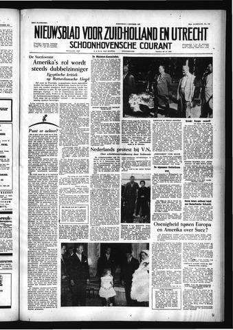 Schoonhovensche Courant 1956-10-03
