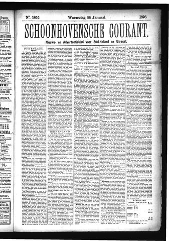 Schoonhovensche Courant 1898-01-26