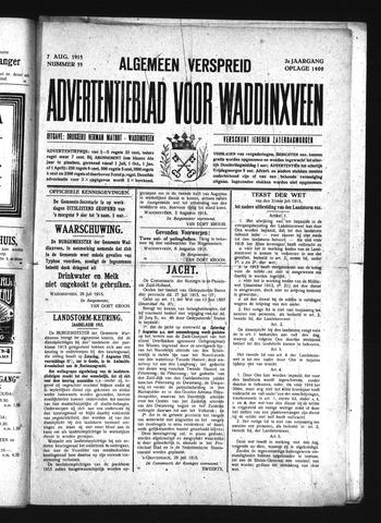 Advertentieblad Waddinxveen 1915-08-07