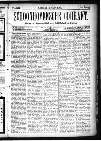 Schoonhovensche Courant 1921-03-14