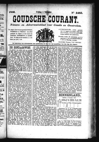 Goudsche Courant 1886-11-05