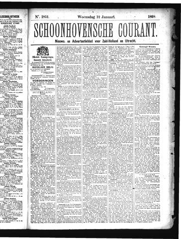 Schoonhovensche Courant 1898-01-12