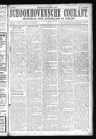 Schoonhovensche Courant 1924-11-10