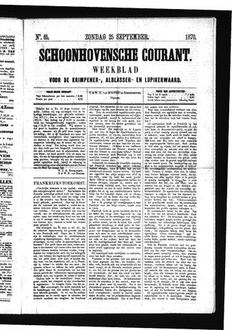 Schoonhovensche Courant 1870-09-25