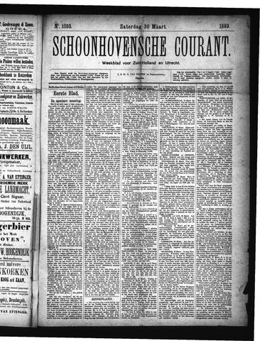 Schoonhovensche Courant 1889-03-30