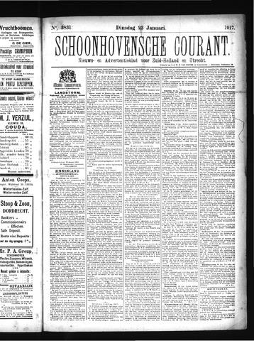 Schoonhovensche Courant 1917-01-23