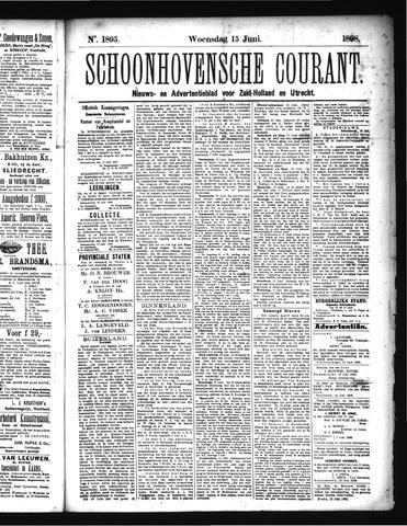 Schoonhovensche Courant 1898-06-15
