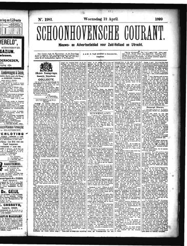 Schoonhovensche Courant 1899-04-12