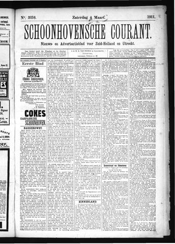 Schoonhovensche Courant 1911-04-04