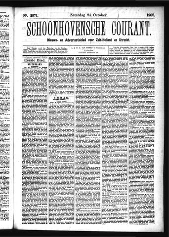 Schoonhovensche Courant 1908-10-24