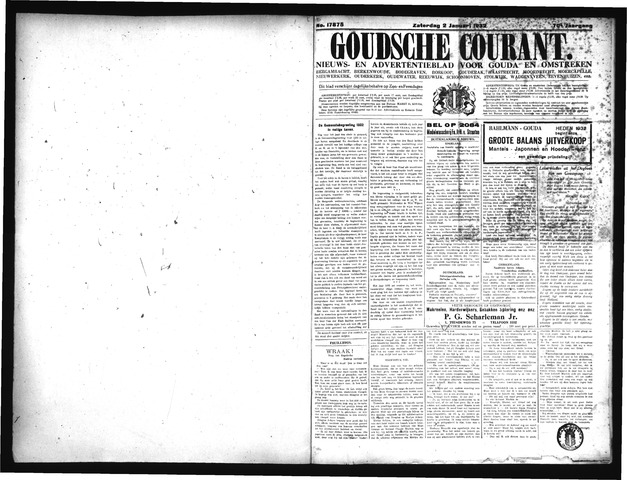 Goudsche Courant 1932