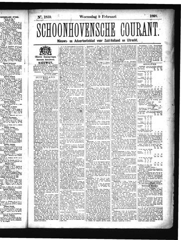 Schoonhovensche Courant 1898-02-09